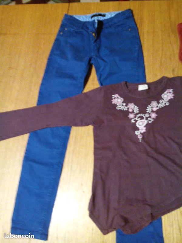 Lot de vêtements fille taille 10 ans