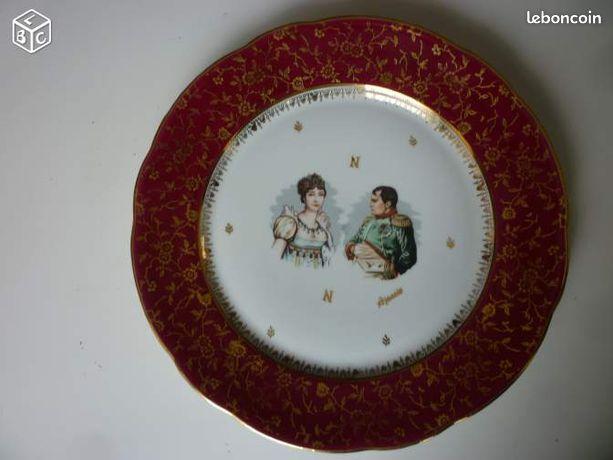 Assiette en porcelaine de luxe NAPOLEON JOSEPHINE