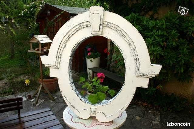 Miroir oeil de boeuf finition zinc blanc d coration for Miroir oeil de boeuf