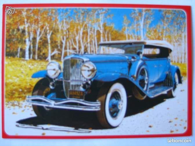 carte postale voiture auto duesenberg 1928 collection territoire de belfort. Black Bedroom Furniture Sets. Home Design Ideas