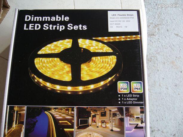 Led flexible strips - Flines-lez-Raches - LED STRIPS SET led strips+adaptator+led dimmer  - Flines-lez-Raches