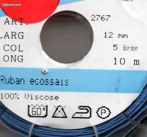 RUBAN ECOSSAIS 12 mm 100% viscose neuf (image 2)