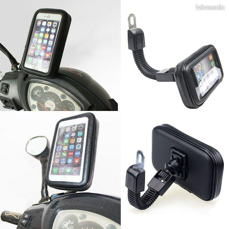 Support téléphone rétroviseur scooter moto vélo trottinette étanche à l'eau et tactile idéal livreur