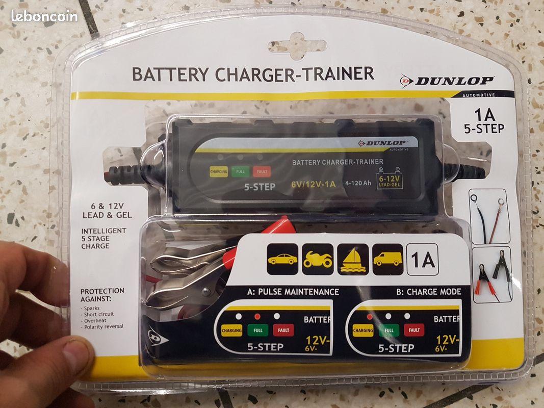 Chargeur batterie dunlop voiture