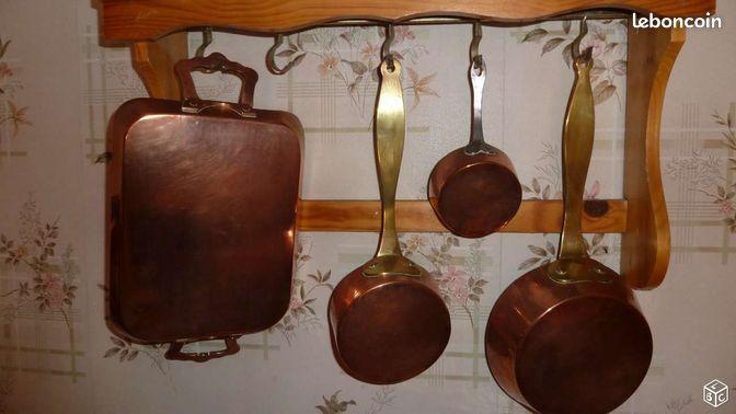 ustensiles de cuisine en cuivre et alu 1950 arts de la table dr me. Black Bedroom Furniture Sets. Home Design Ideas