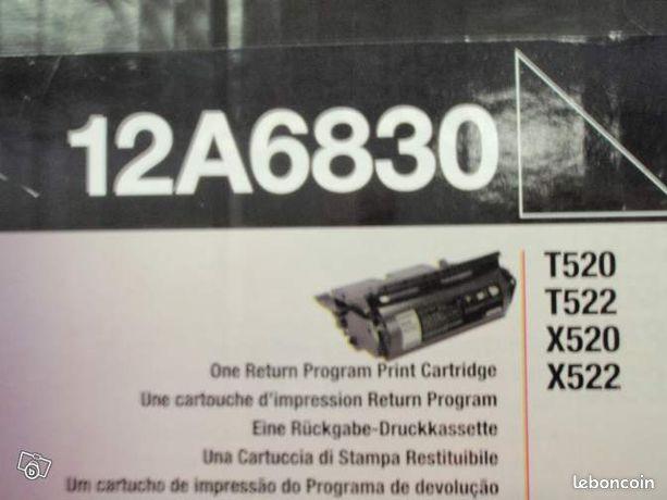 Toner lexmark ref 12A6830 - Varize - toner lexmark référence 12A6830 pour imprimante T520, T522, X520, X522.capacité 20000 pages. toner neuf sous emballage étudie toutes propositions, faire offre  - Varize