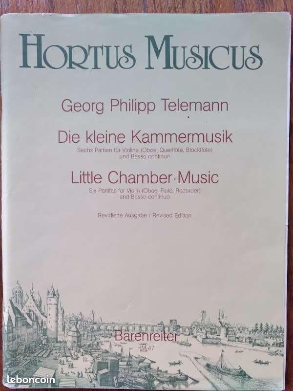 Partition. georg philipp telemann. petite musique de chambre - 6 partitas pour violon et bc