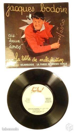 Disque 45 tours de jacques bodoin cd musique loiret - Jacques bodoin la table de multiplication ...