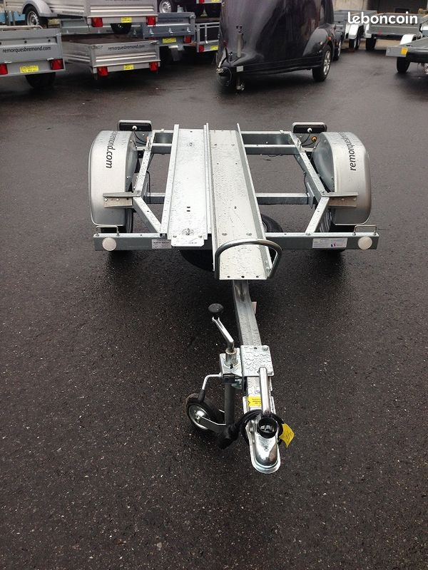 Remorque porte moto 1 rail