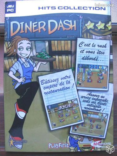 Diner dash, jeux video pc - Avignon - Diner dash, jeux video original pour pc  - Avignon