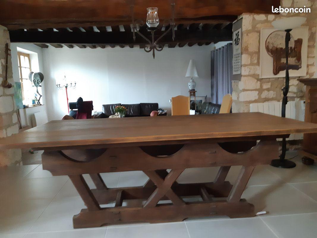 Table de salle à manger en chêne d'occasion   Annonces meuble ...