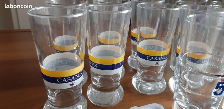 Lot de verres casanis, pastis 51