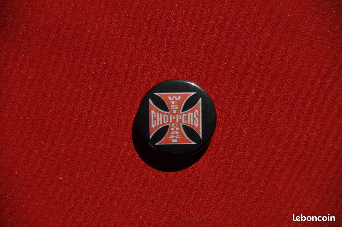 Badge epingle metal 2,5 west coast choppers bobber custom