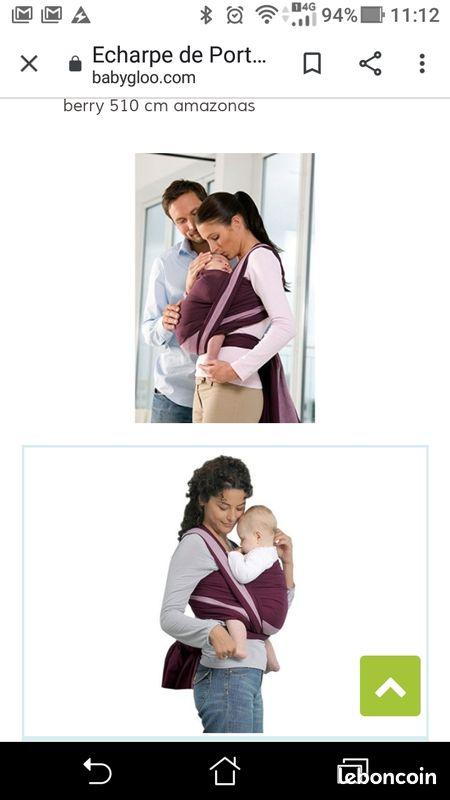 Amazonas écharpe porte bébé carry sling berry 450 cm