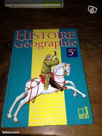 Livre Histoire Geographie 4eme Edition Belin
