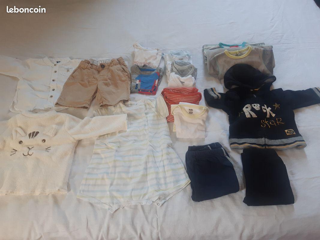 Vêtements garçon 9 mois lot 8 pièces hiver mi-saison