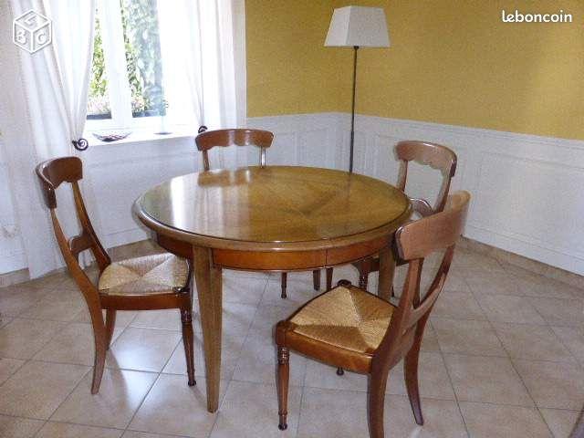 Table ronde avec allonges et annonces d 39 achats et de ventes - Ambiance tables et chaises reims ...