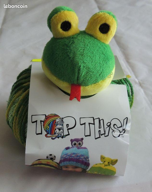 Kit pour bonnet enfant dmc top this grenouille neuf