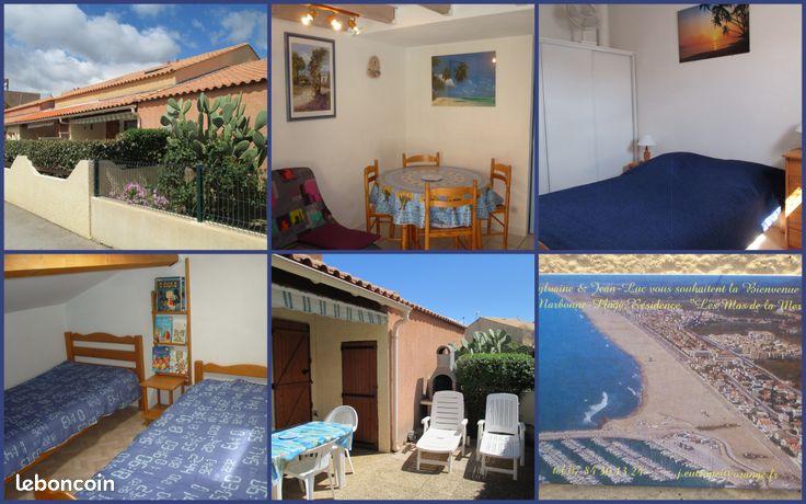 Aude ,Narbonne Plage,Villa 4personnes,300m Mer