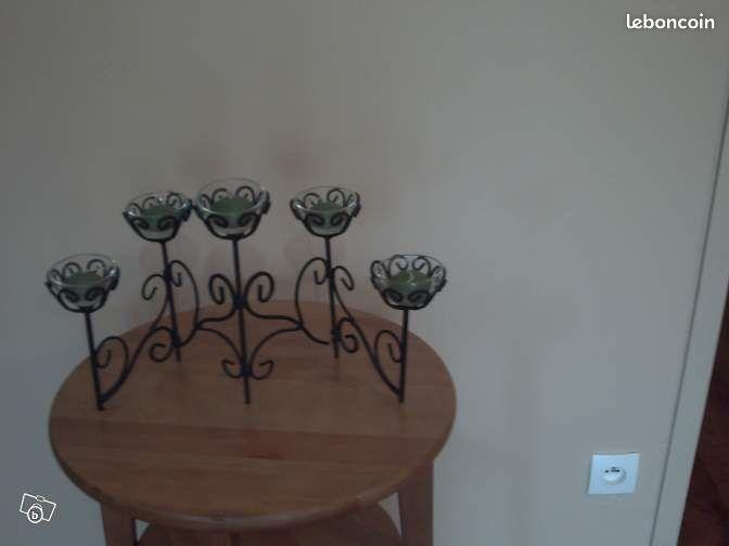 Porte bougies en fer forge d coration nord for Decoration porte fer