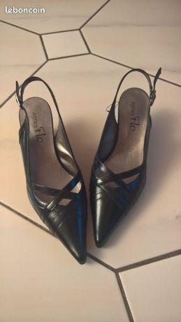 Chaussures noires petit talon