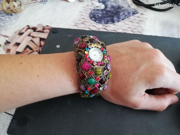 PARURE collier boucles d/'oreille perles de culture saumon bijoux fantaisie neuf.