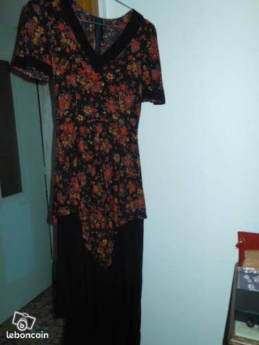 Robe de soiree annees 70 - taille 38