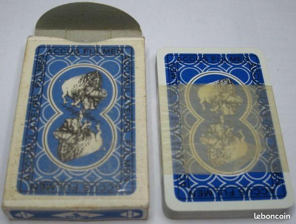 109) Jeu de cartes FULMEN - Castres - Rare jeu de 32 cartes Fulmen, années 60, emballé dans sa boite d'origine. Boite : bon état, jeu NEUF.  - Castres