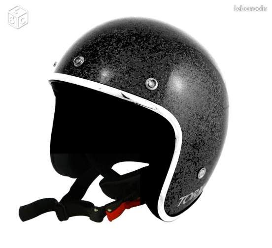 casque torx wyatt glitter noir et blanc equipement moto landes. Black Bedroom Furniture Sets. Home Design Ideas