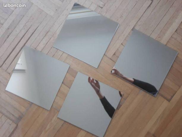 8 miroirs carrés 20x20.Idéal deco mariage ou autre