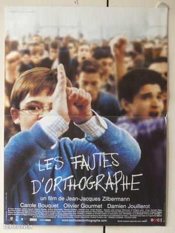 Affiche de cinéma : LES FAUTES D'ORTHOGRAPHES
