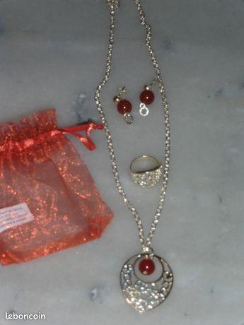 Parure bijoux argente bruna44