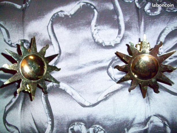 Pinces pour rideaux dorees