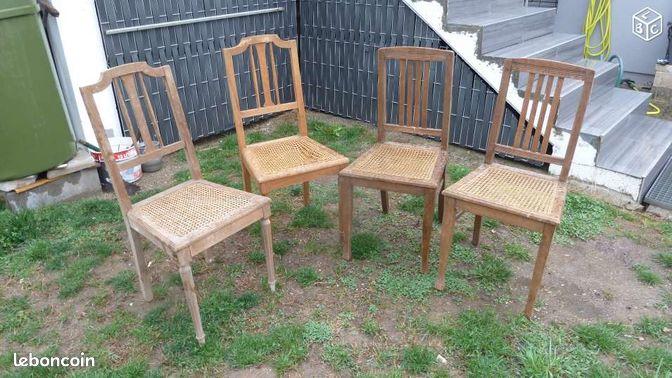 Chaises en bois cannees ameublement haut rhin - Leboncoin immobilier haut rhin ...