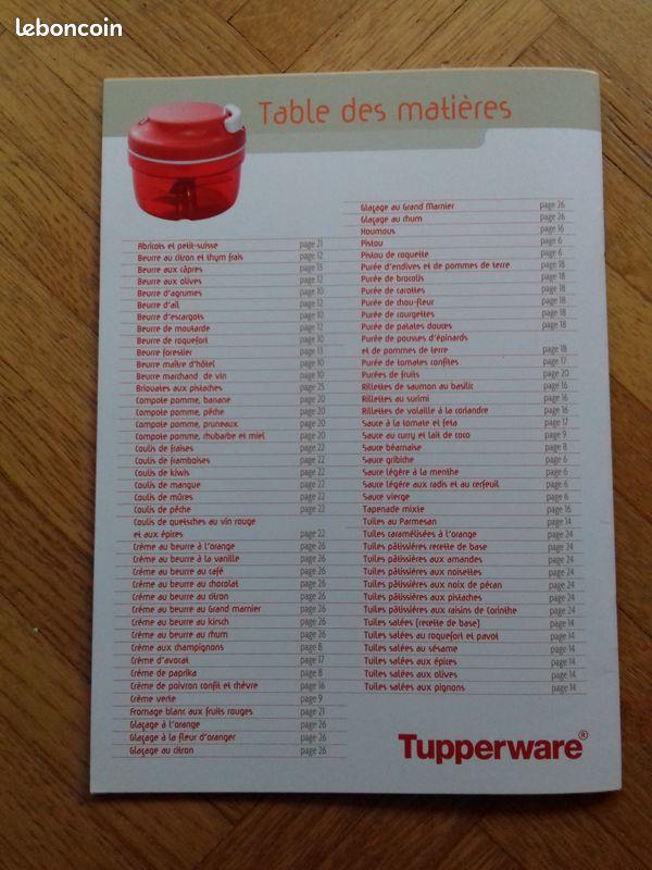 Livre tupperware turbo tup