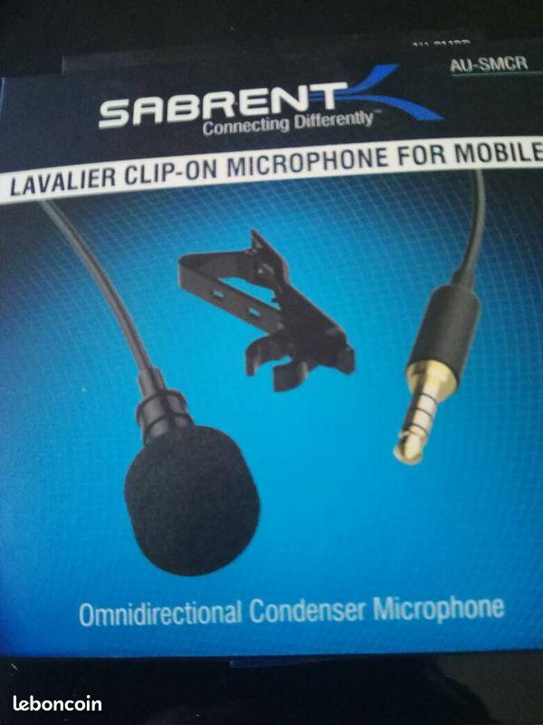 Microphone cravate omnidirectionnel neuf
