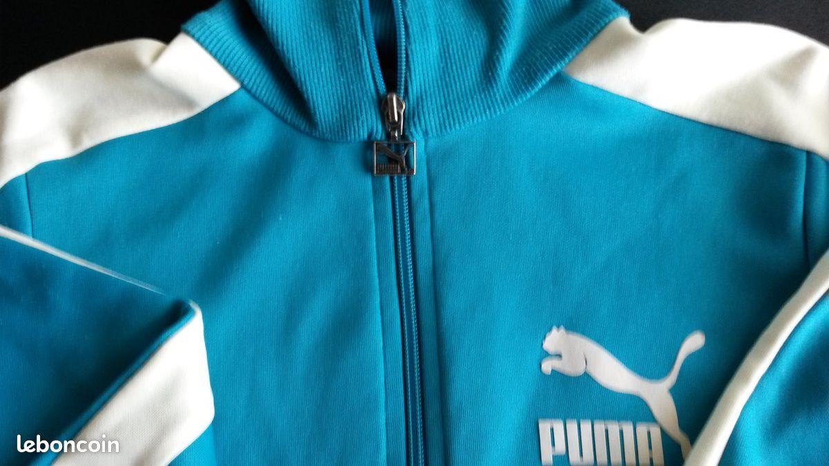 Veste de survêtement turquoise puma taille 38