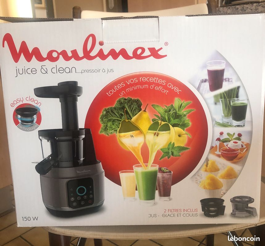 Extracteur de jus juice and clean moulinex