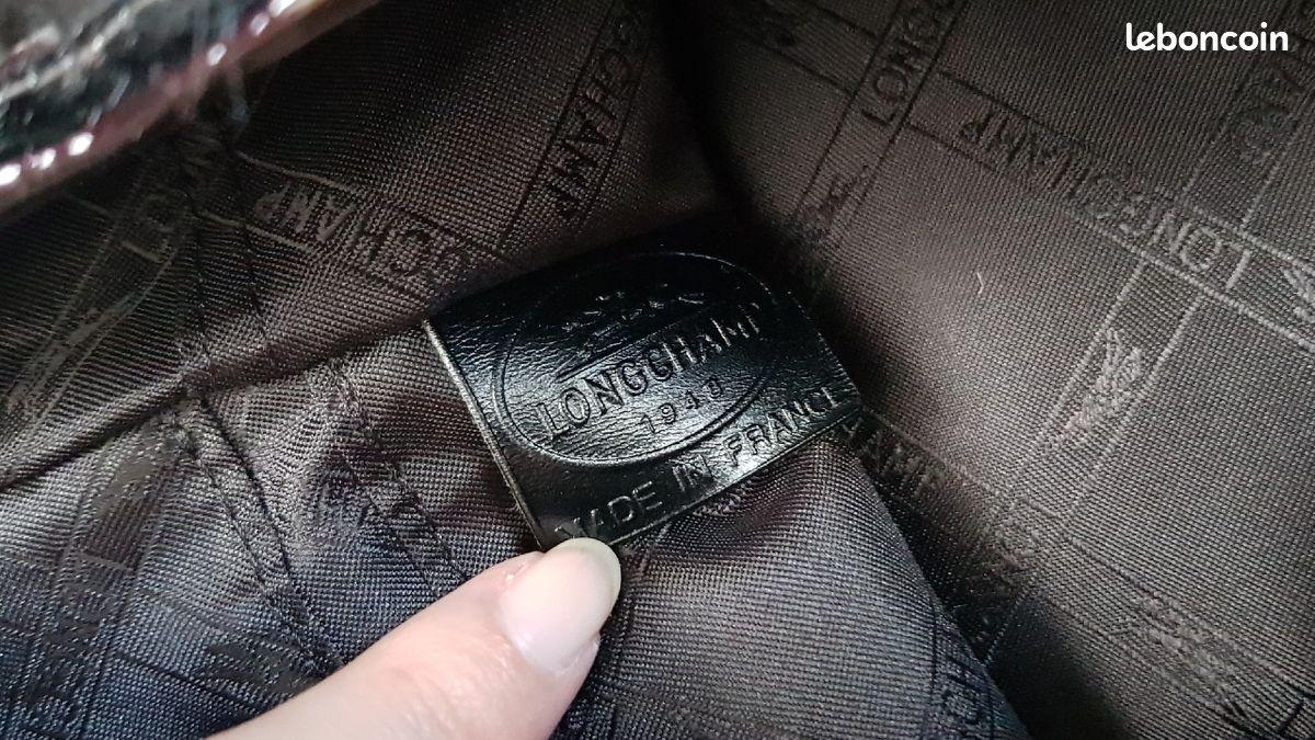 Longchamp sublime sac en cuir vernis noir et strass swarowsky neuf