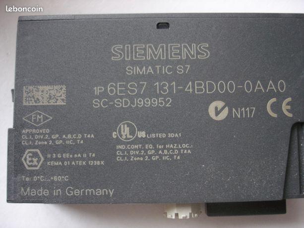 Siemens S7 6ES7 131-4BD00-0AA0&6ES7 132-4BD00-0AA0 - Mulhouse - Siemens Simatic S7 6ES7 131-4BD00-0AA0 Module 4 DI DC24V & Siemens Simatic S7 6ES7 132-4BD00-0AA0 Module 4 DO DC24V 10 € pièce  - Mulhouse