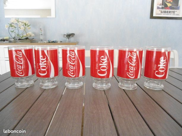 Grands verres Coca Cola collector