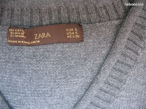 Pull gris Zara Taille S ou 38 (image 2)