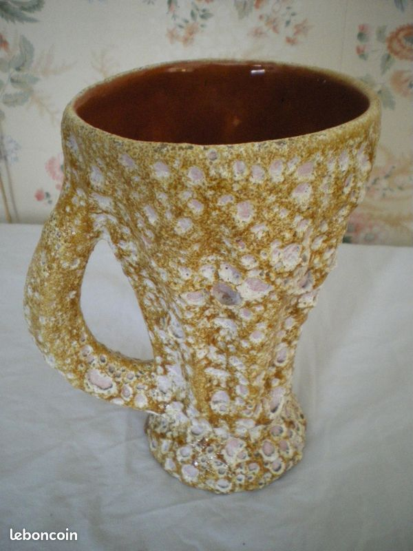 Vase de style vallauris vintage