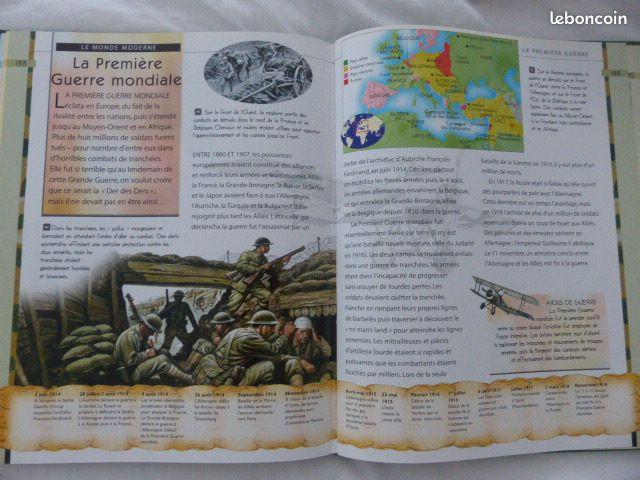 Livre histoire illustrée de l'antiquité à nos jour