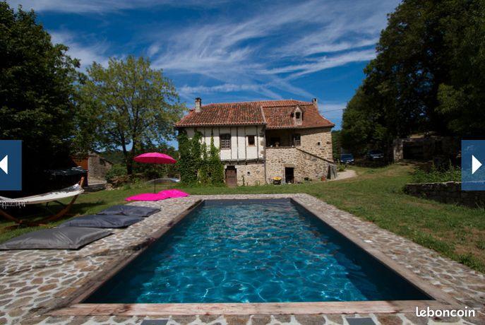 Quercy : Maison de campagne avec piscine