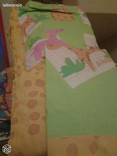 Housse de couette drap housse taie motif girafe linge de maison meurthe et mo - Housse de couette girafe ...