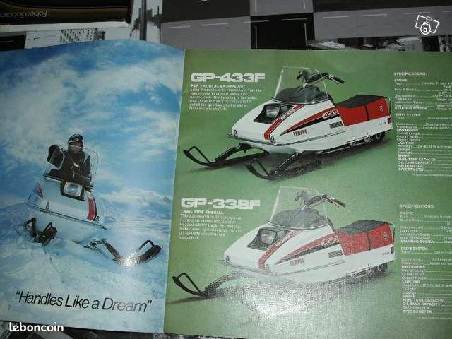 Rare pub publicité revue livre vintage yamaha moto neige biker prospectus
