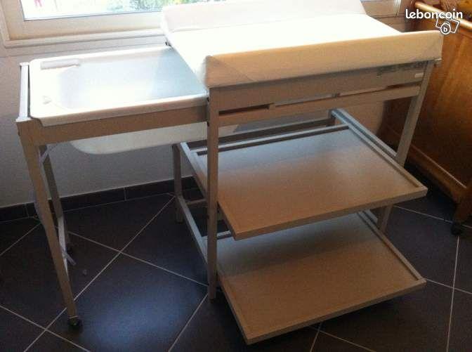 Table langer baignoire quax equipement b b corse - Table a langer baignoire coulissante ...