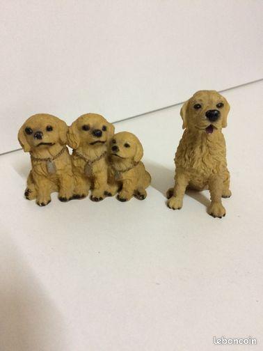 D coration en r sine chien golden retriever d coration for Decoration chien resine