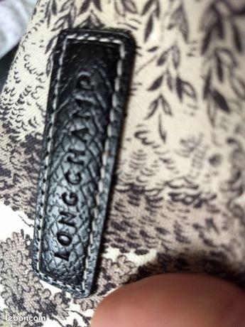 Sac a main, Longchamp toile de Jouy